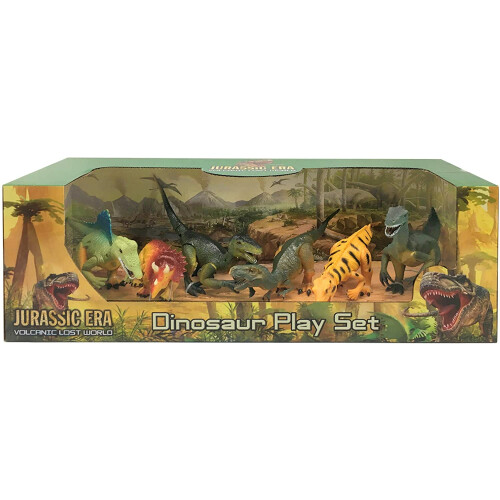 Jurassic Era 6 Dinosaur Playset