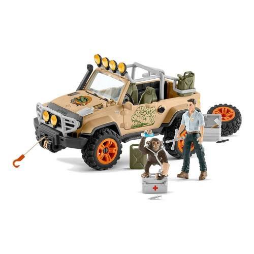 Schleich Wild Life 42410 4x4 Vehicle with Winch