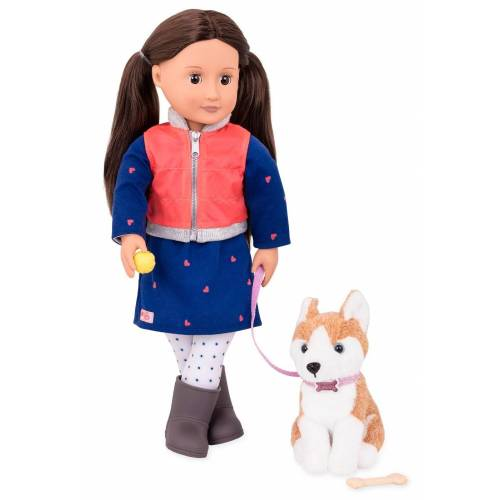 Our Generation Leslie Doll and Dog