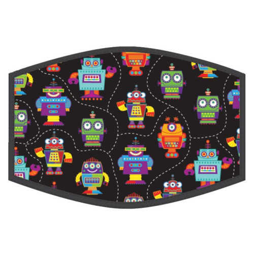 Washable Face Protector - Kids Size - Robots