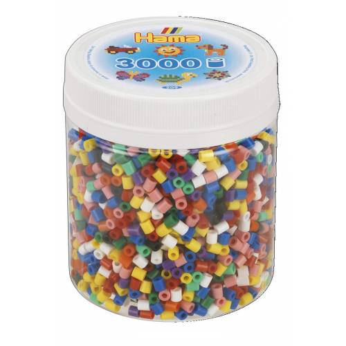 Hama Beads 209-00 3000 Tub Solid Mix
