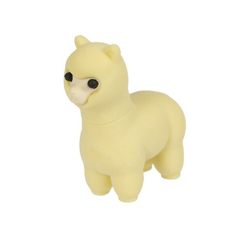 Iwako Puzzle Eraser - Sheep and Alpaca - Alpaca (Yellow)