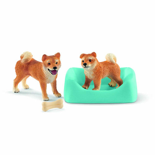 Schleich Farm Life 42479 Shiba Inu mother and puppy