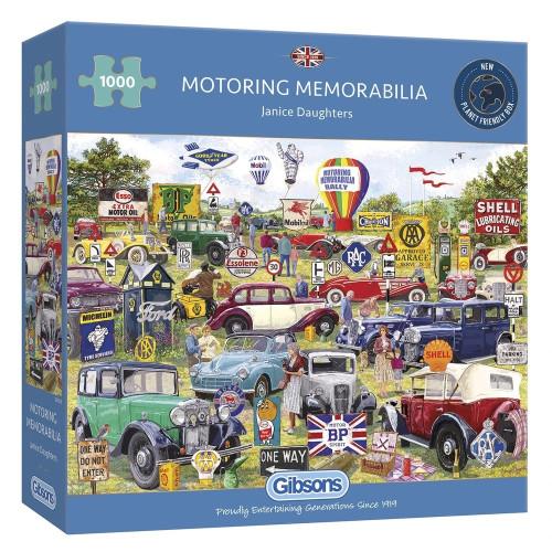 Gibsons Motoring Memorabilia 1000pc Puzzle