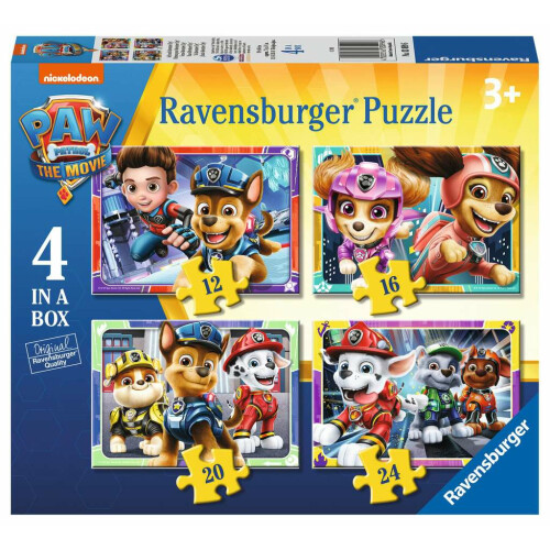 Ravensburger 4 Puzzles in a Box Paw Patrol The Movie
