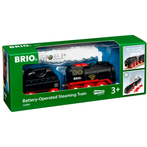 Brio 33884 Battery-Operated Steaming Train