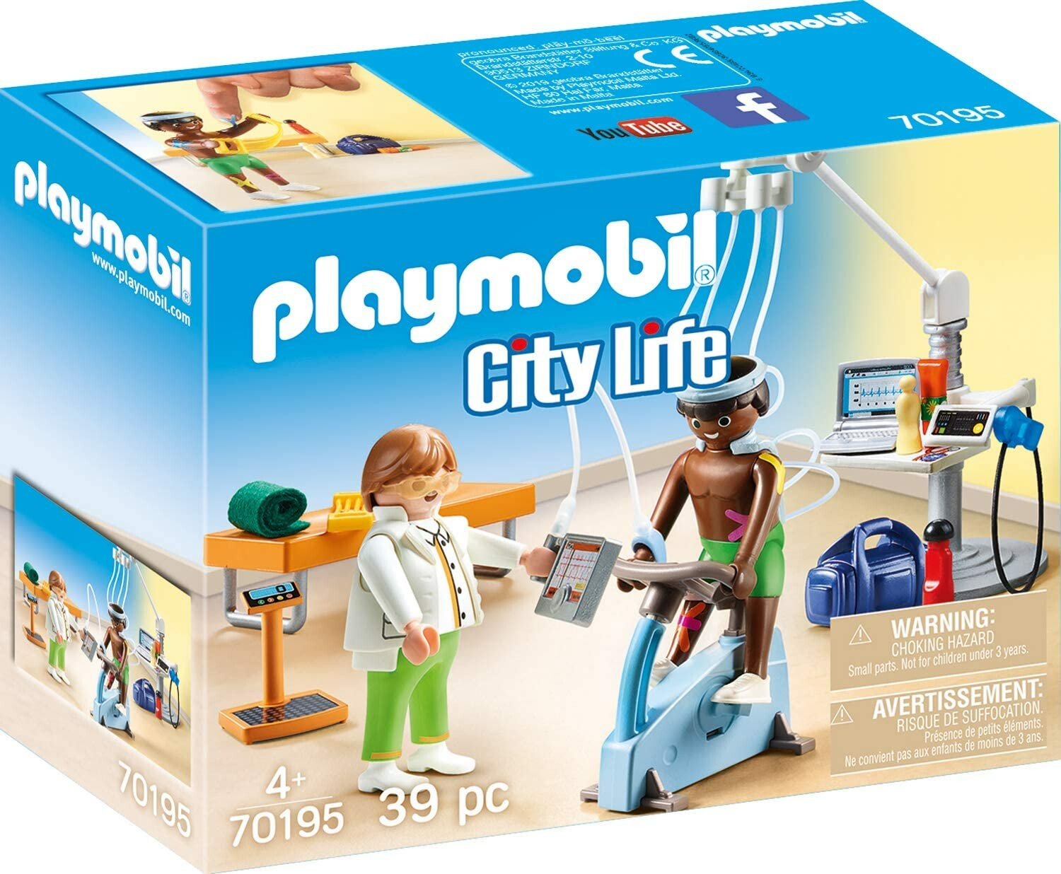 playmobil 70195 city life physical therapist  toys n tuck