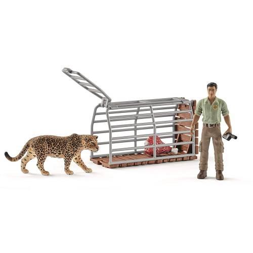 Schleich Wild Life 42427 Jaguar Trap with Ranger