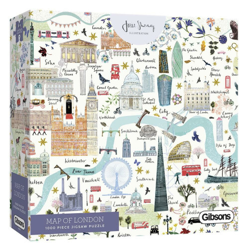 Gibsons Map of London 1000pc Puzzle