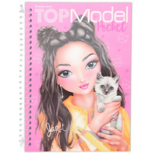 Depesche Top Model Pocket Colouring Book with 3D Cover - Janet