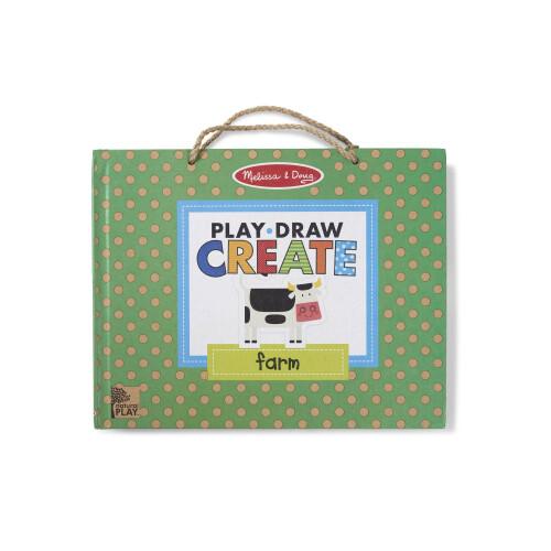 Melissa & Doug Reusable Drawing and Magnet Kit - Farm
