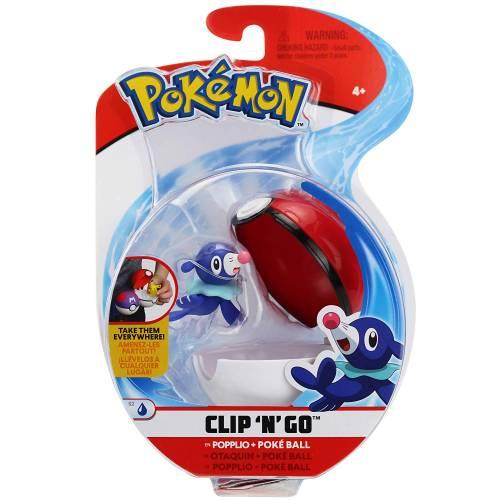 Pokemon Clip 'n' Go - Popplio & Pokeball