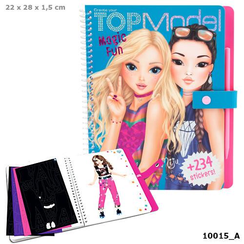 depesche top model magic fun colouring book  toys n tuck