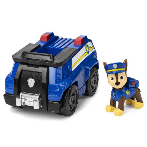Paw Patrol Basic Vehicle with Pup - Chase Patrol Cruiser