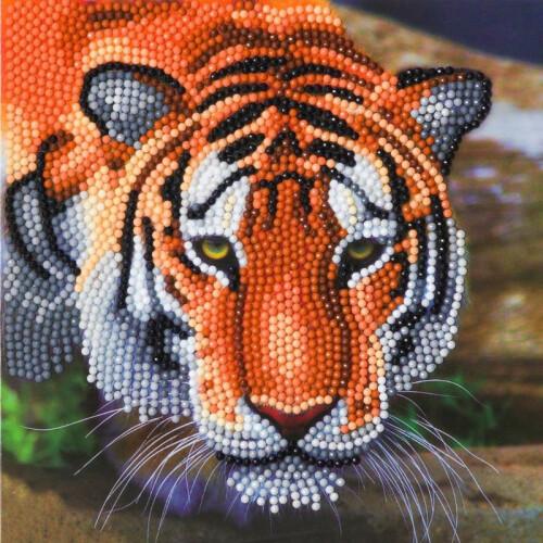 Crystal Art Card Kit - Tiger