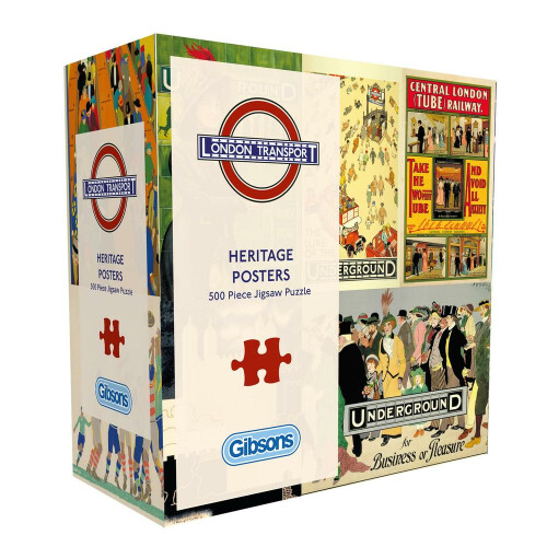 Gibsons Heritage Posters 500pc Puzzle