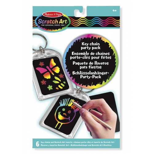 Melissa & Doug Scratch Art Key Chain Party Pack