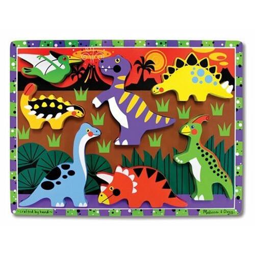 Melissa & Doug Dinosaur Wooden Chunky Puzzle