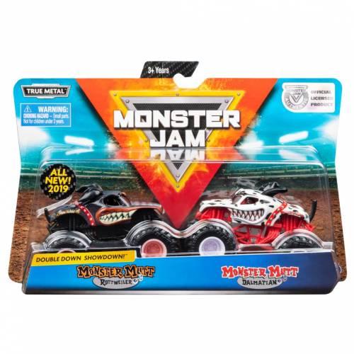Monster Jam - 2 Pack - Monster Mutt Rottweiler vs Monster Mutt Dalmatian
