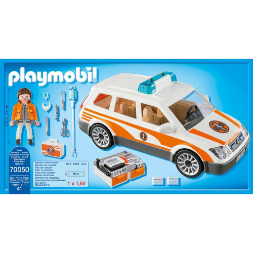 Playmobil 70050 City Life Emergency Car With Siren Toys