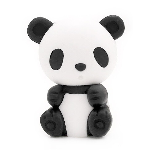 Iwako Puzzle Eraser - Zoo - Panda (Sitting)