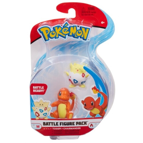 Pokemon Battle Figure Set - Togepi and Charmander