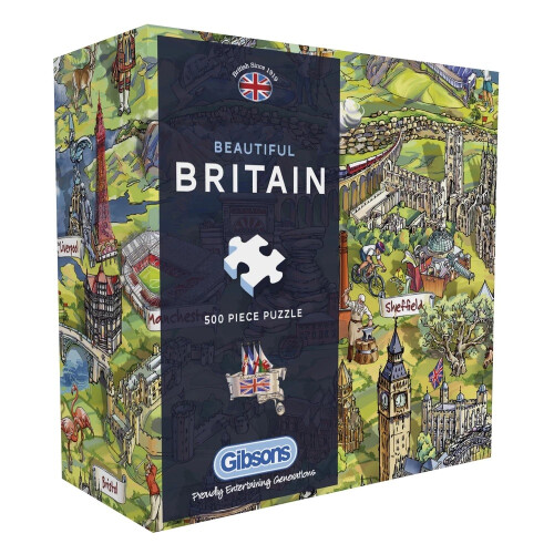 Gibsons Beautiful Britain 500pc Puzzle