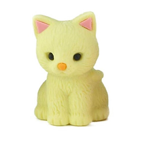 Iwako Puzzle Eraser - Pastel Cat (Yellow)