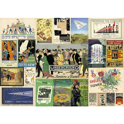 Gibsons London Transport Heritage Posters 1000pc Puzzle