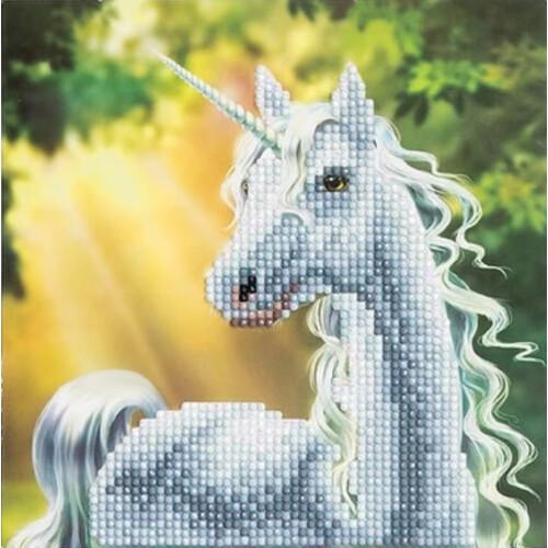 Crystal Art Card Kit - Unicorn