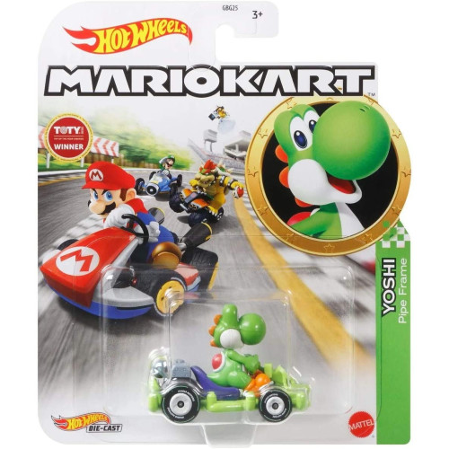 Hot Wheels Mario Kart - Yoshi (Pipe Frame)