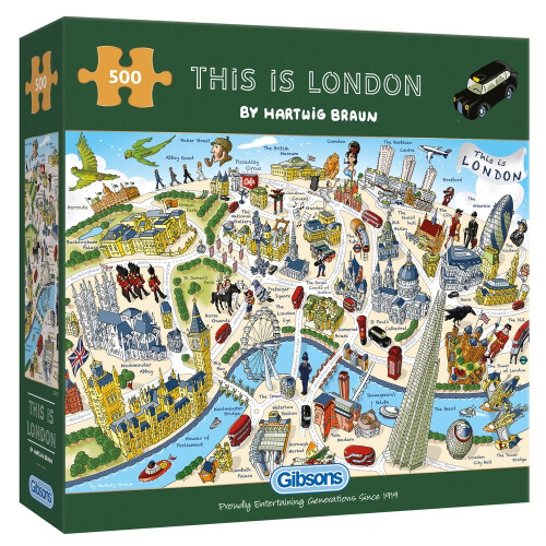 Gibsons 500 Piece Jigsaw Puzzle - This Is London