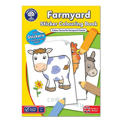 Orchard Farmyard Sticker Colouring Book