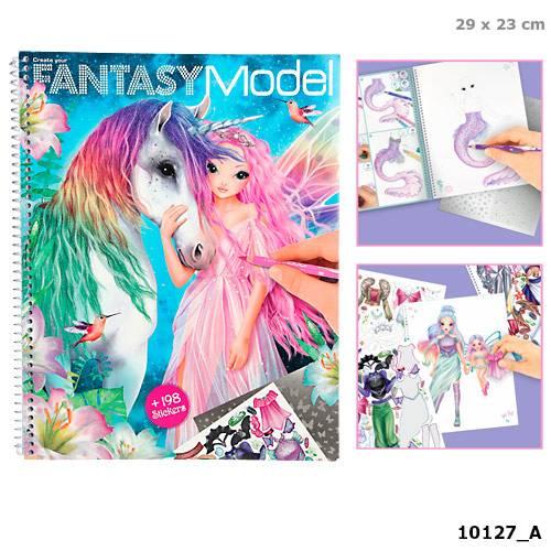 Depesche Top Model Fantasy Model Colouring Book