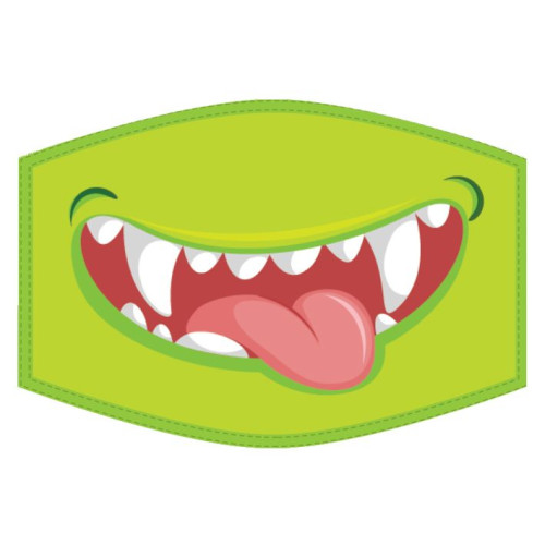 Washable Face Protector - Kids Size - Monster Smile