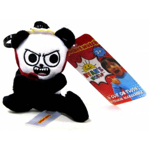 Ryan's World Clip On Plush - Combo Panda
