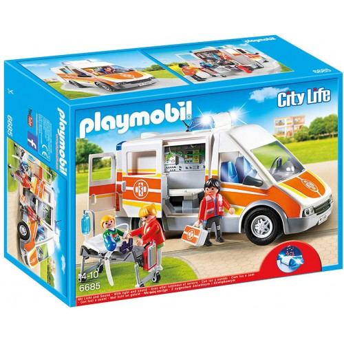 Playmobil 6685 City Life Ambulance with Lights and Sound