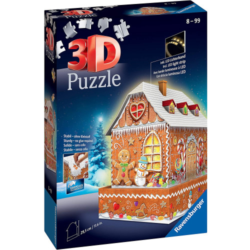 Ravensburger 257pc 3D Jigsaw Puzzle Gingerbread House Night Edition
