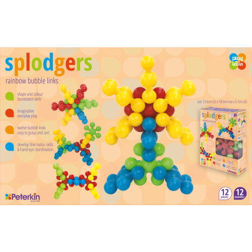 Splodgers Rainbow Bubble Links