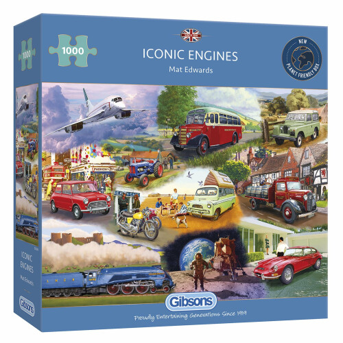 Gibsons Iconic Engines 1000pc Puzzle