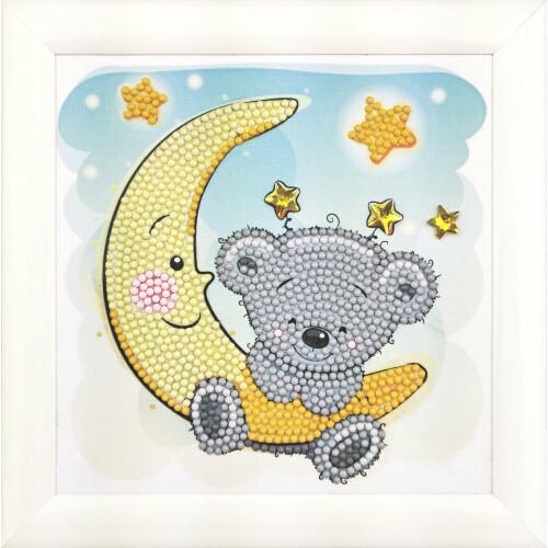 Crystal Art Frameables - Teddy on the Moon