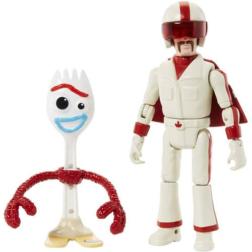 Toy Story 4 Posable Action Figure - Forky & Duke Caboom
