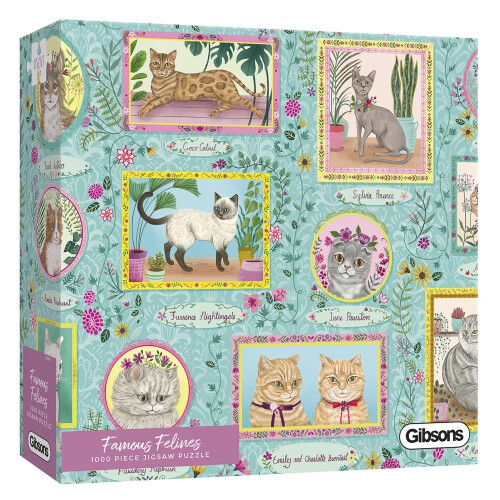 Gibsons Famous Felines 1000pc Puzzle