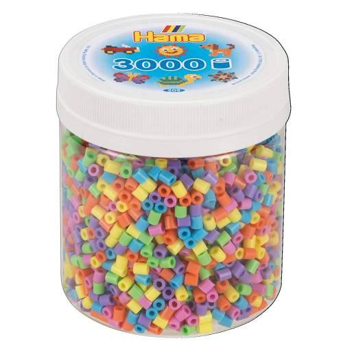 Hama Beads 209-50 3000 Tub Pastel Mix