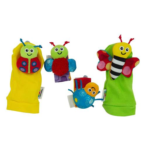 Tomy Lamaze Gardenbug Foot Finder & Wrist Rattle Set