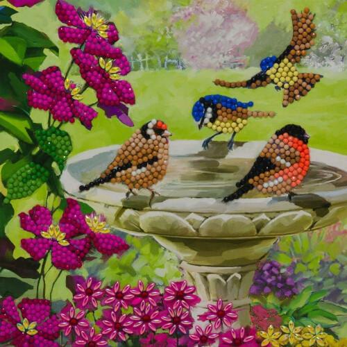 Crystal Art Card Kit - Birds