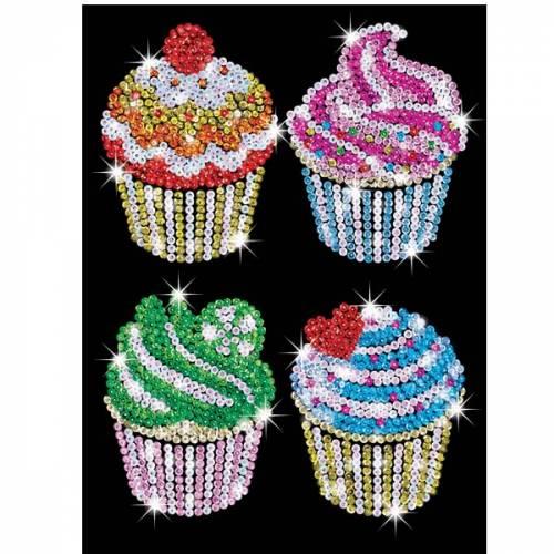 Sequin Art Ltd. Sequin Art Blue Cupcakes 1130