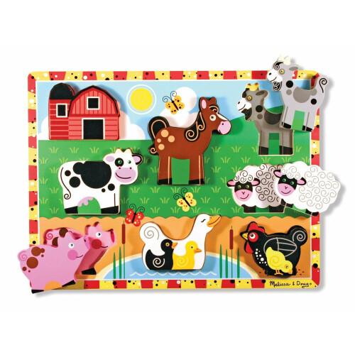 Melissa & Doug Wooden Chunky Puzzle Farm