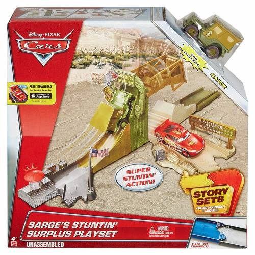 Disney Pixar Cars Story Sets - Sarge's Stuntin' Surplus Playset