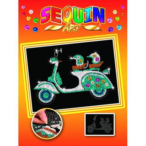 Sequin Art Limited. Sequin Art Orange Scooter 1717
